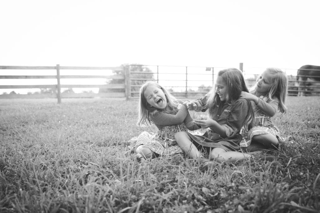 Family Photographer Rachael Ice Photography Sisters Black and White